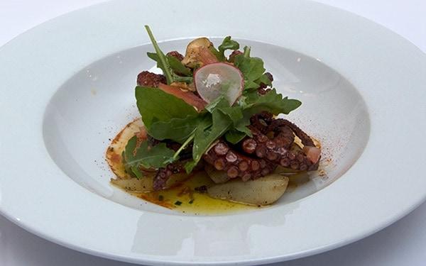 Moro resto – cuisine de qualité - 1050 Bruxelles - assiette calamar