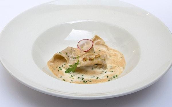 Moro resto – cuisine de qualité - 1050 Bruxelles - raviole de homard